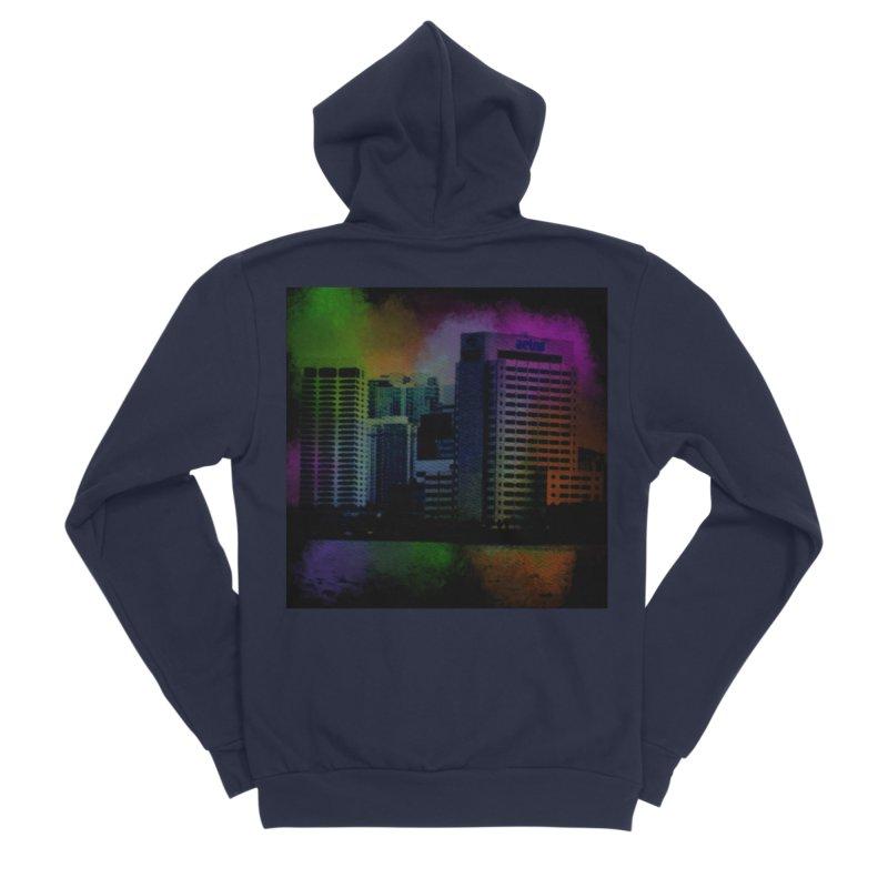 Dark City 4981 Women's Sponge Fleece Zip-Up Hoody by Korok Studios Artist Shop