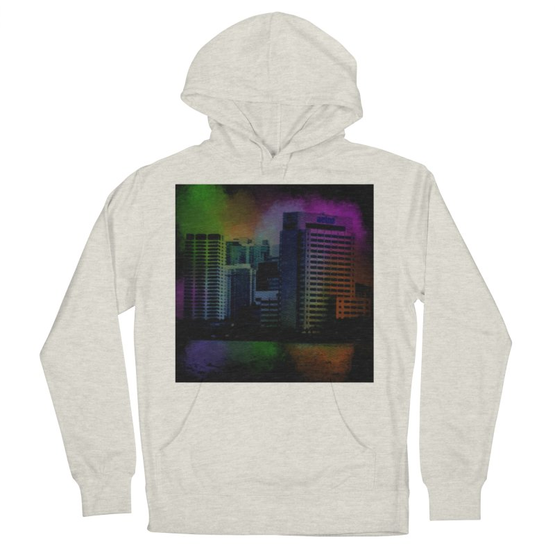 Dark City 4981 Women's French Terry Pullover Hoody by Korok Studios Artist Shop