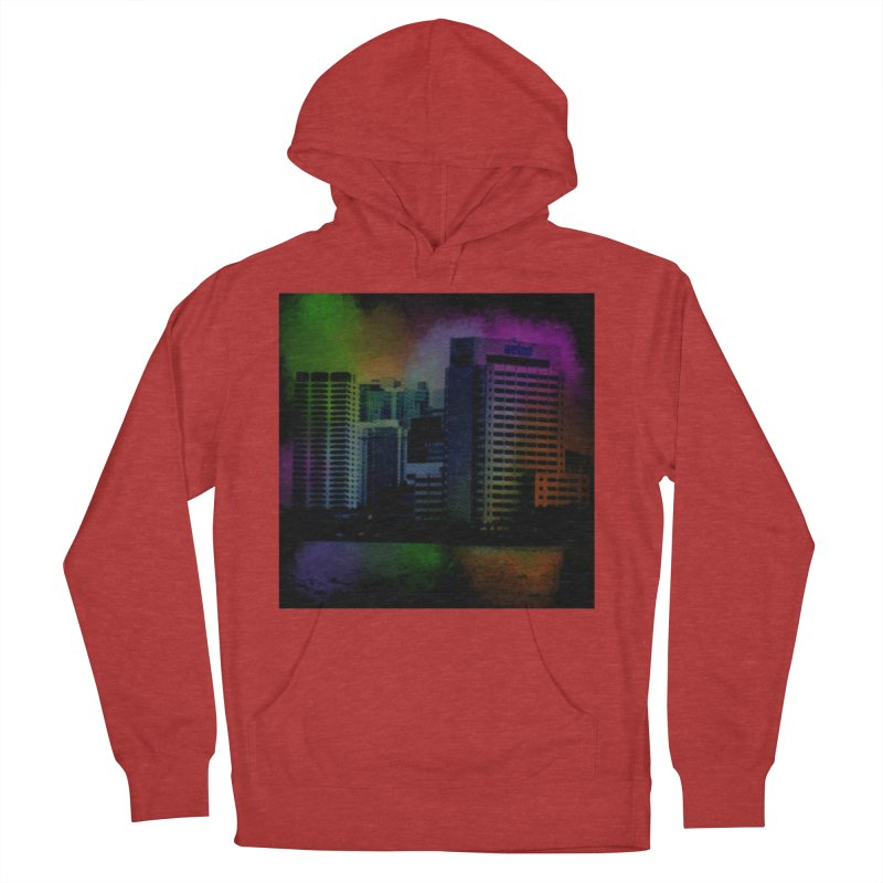 Dark City 4981 Men's French Terry Pullover Hoody by Korok Studios Artist Shop