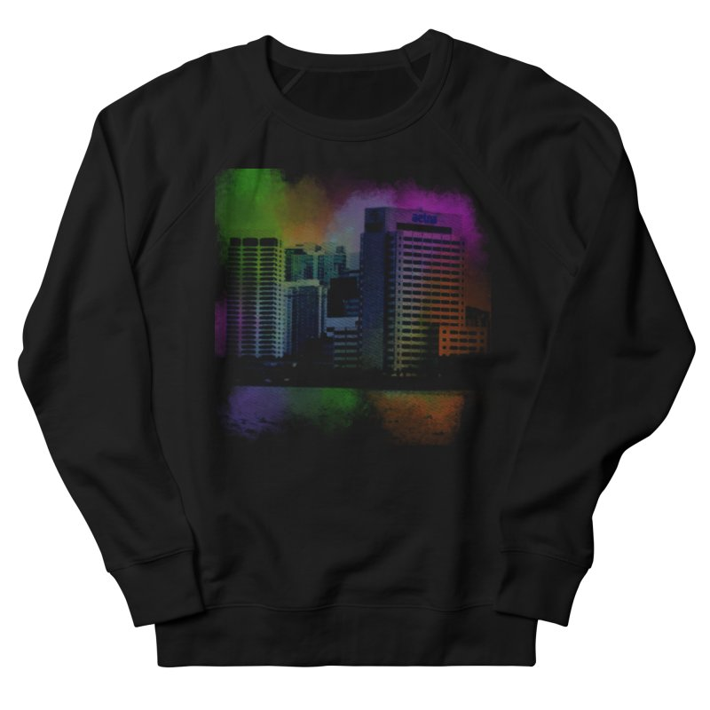 Dark City 4981 Women's French Terry Sweatshirt by Korok Studios Artist Shop