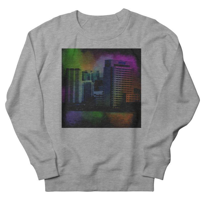 Dark City 4981 Men's French Terry Sweatshirt by Korok Studios Artist Shop
