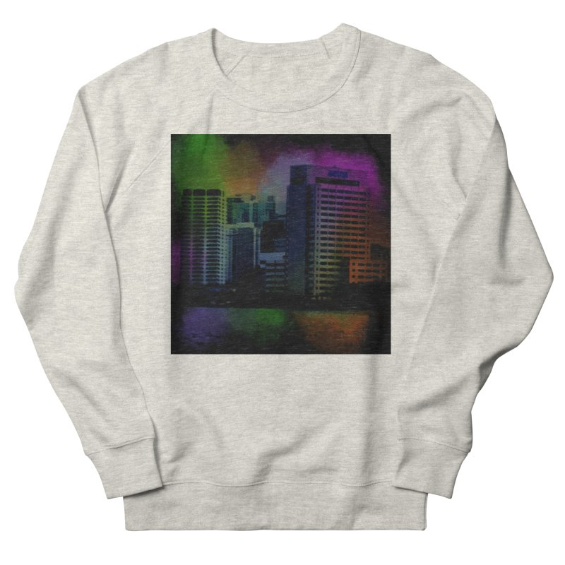 Dark City 4981 Men's French Terry Sweatshirt by Korok Studios Artist Shop