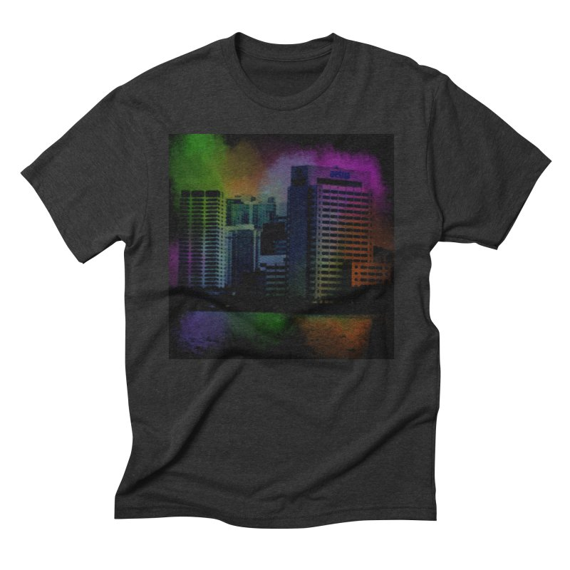 Dark City 4981 Men's Triblend T-Shirt by Korok Studios Artist Shop
