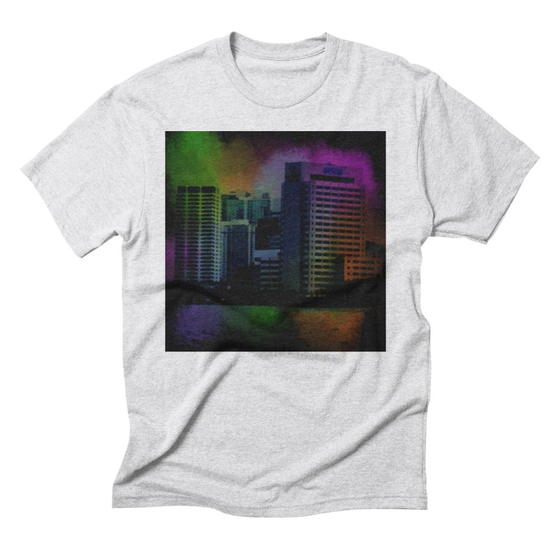 Dark City 4981 Men's Triblend T-Shirt by Korok Studios Artist Shop