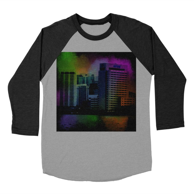 Dark City 4981 Women's Baseball Triblend Longsleeve T-Shirt by Korok Studios Artist Shop