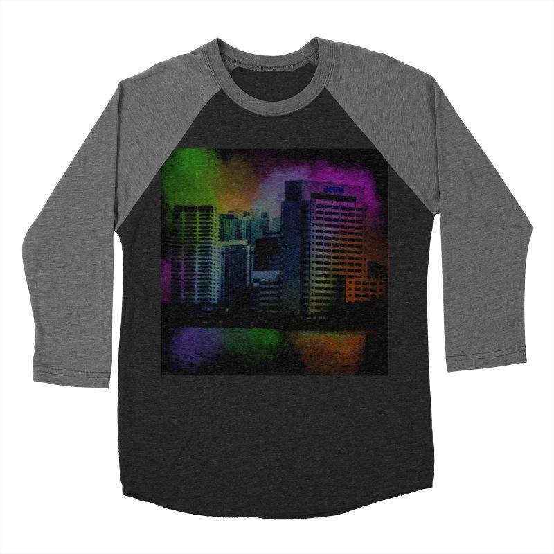 Dark City 4981 Men's Baseball Triblend Longsleeve T-Shirt by Korok Studios Artist Shop