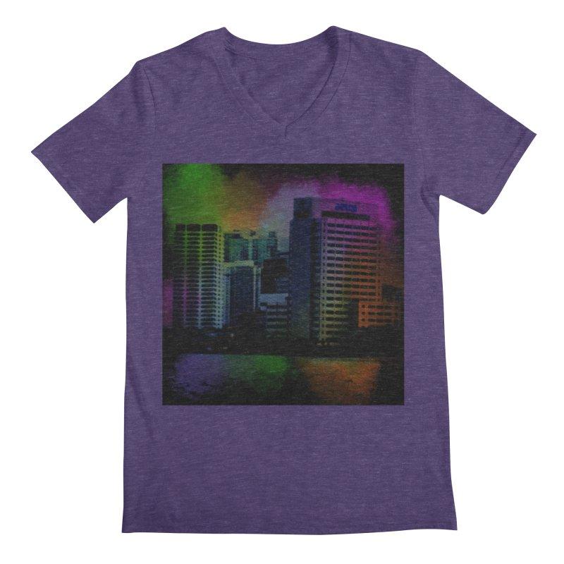 Dark City 4981 Men's Regular V-Neck by Korok Studios Artist Shop