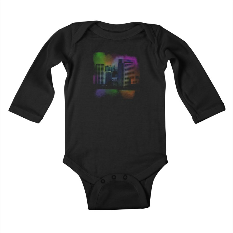 Dark City 4981 Kids Baby Longsleeve Bodysuit by Korok Studios Artist Shop