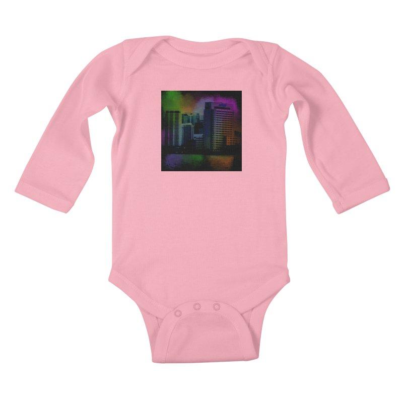 Dark City 4981 Kids Baby Longsleeve Bodysuit by Korok Studios Artist Shop