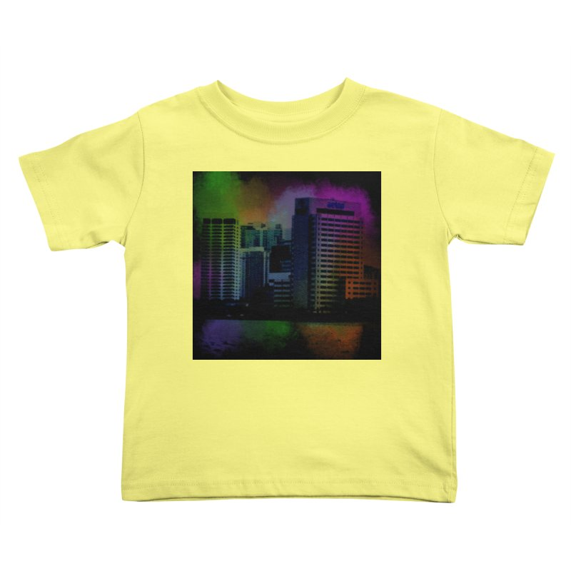 Dark City 4981 Kids Toddler T-Shirt by Korok Studios Artist Shop