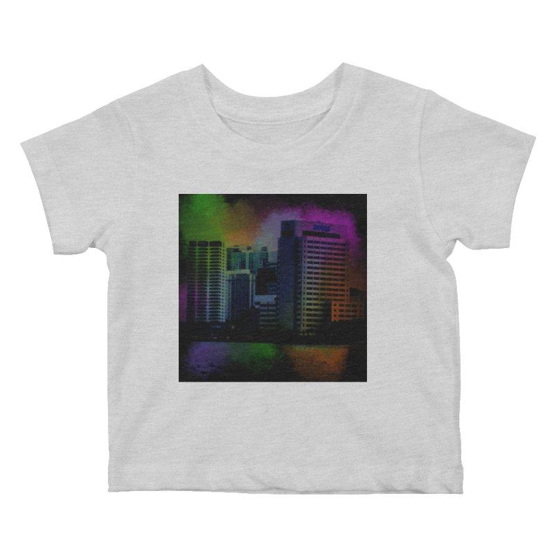 Dark City 4981 Kids Baby T-Shirt by Korok Studios Artist Shop