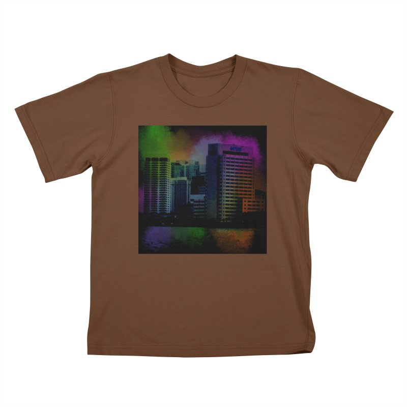 Dark City 4981 Kids T-Shirt by Korok Studios Artist Shop