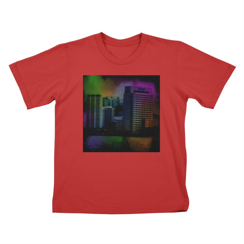 Dark City 4981 Kids T-Shirt by Korok Studios Artist Shop