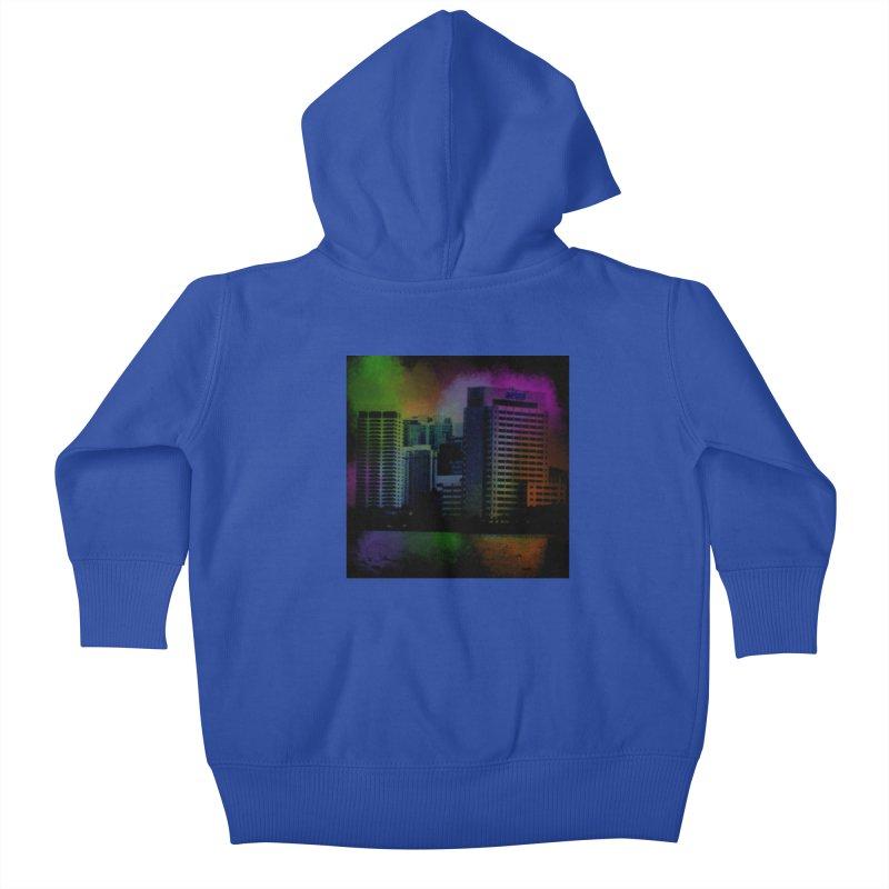Dark City 4981 Kids Baby Zip-Up Hoody by Korok Studios Artist Shop