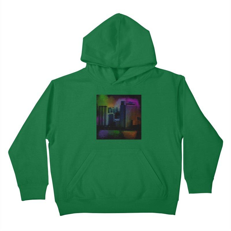 Dark City 4981 Kids Pullover Hoody by Korok Studios Artist Shop
