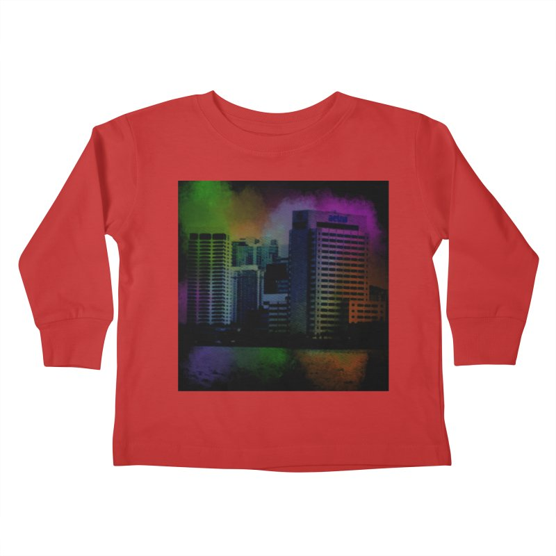 Dark City 4981 Kids Toddler Longsleeve T-Shirt by Korok Studios Artist Shop