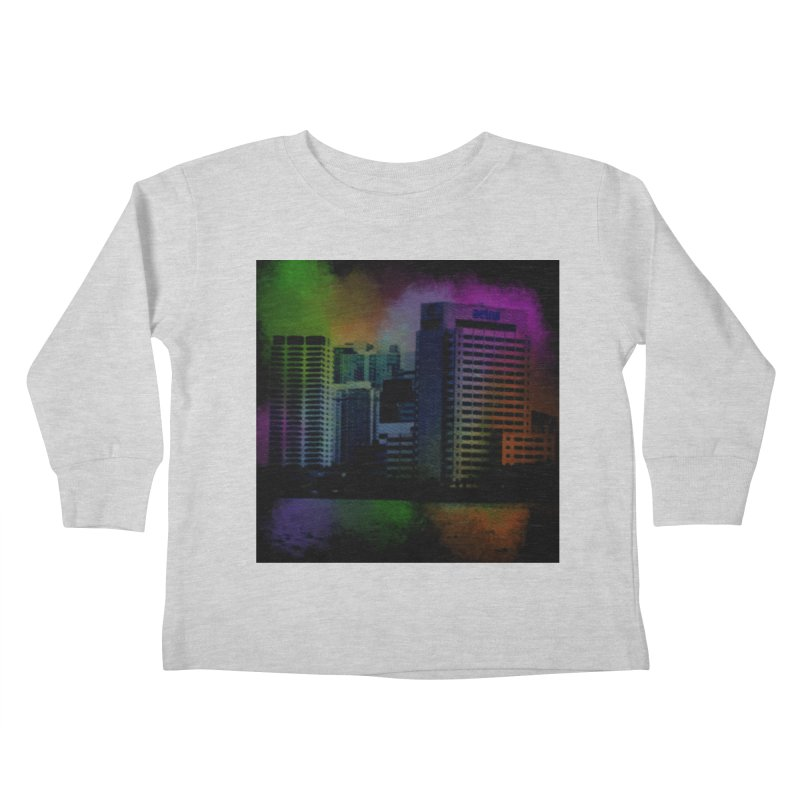 Dark City 4981 Kids Toddler Longsleeve T-Shirt by Korok Studios Artist Shop