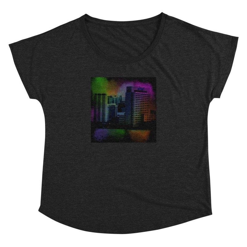 Dark City 4981 Women's Dolman Scoop Neck by Korok Studios Artist Shop