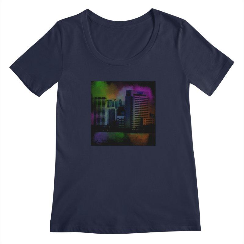 Dark City 4981 Women's Regular Scoop Neck by Korok Studios Artist Shop