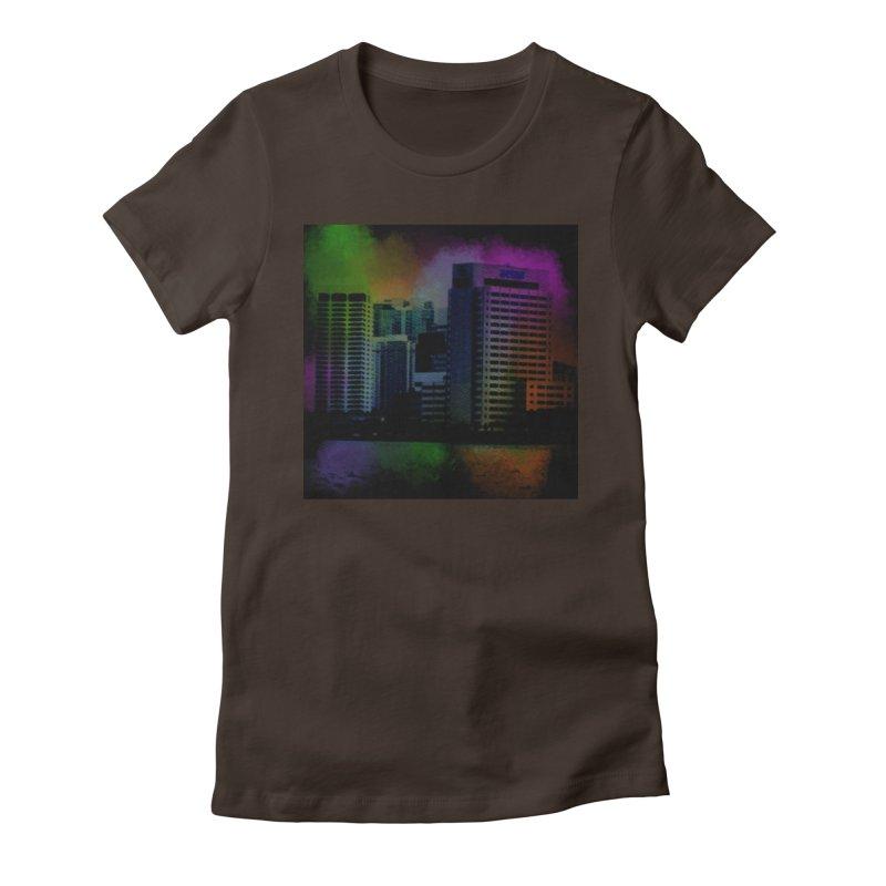 Dark City 4981 Women's Fitted T-Shirt by Korok Studios Artist Shop