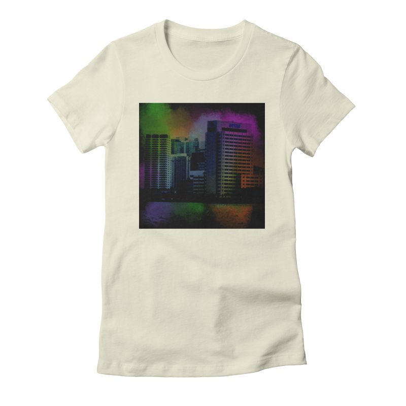 Dark City 4981 Women's Fitted T-Shirt by Korok Studios Artist Shop