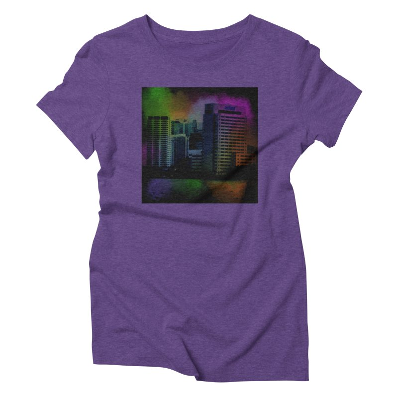 Dark City 4981 Women's Triblend T-Shirt by Korok Studios Artist Shop