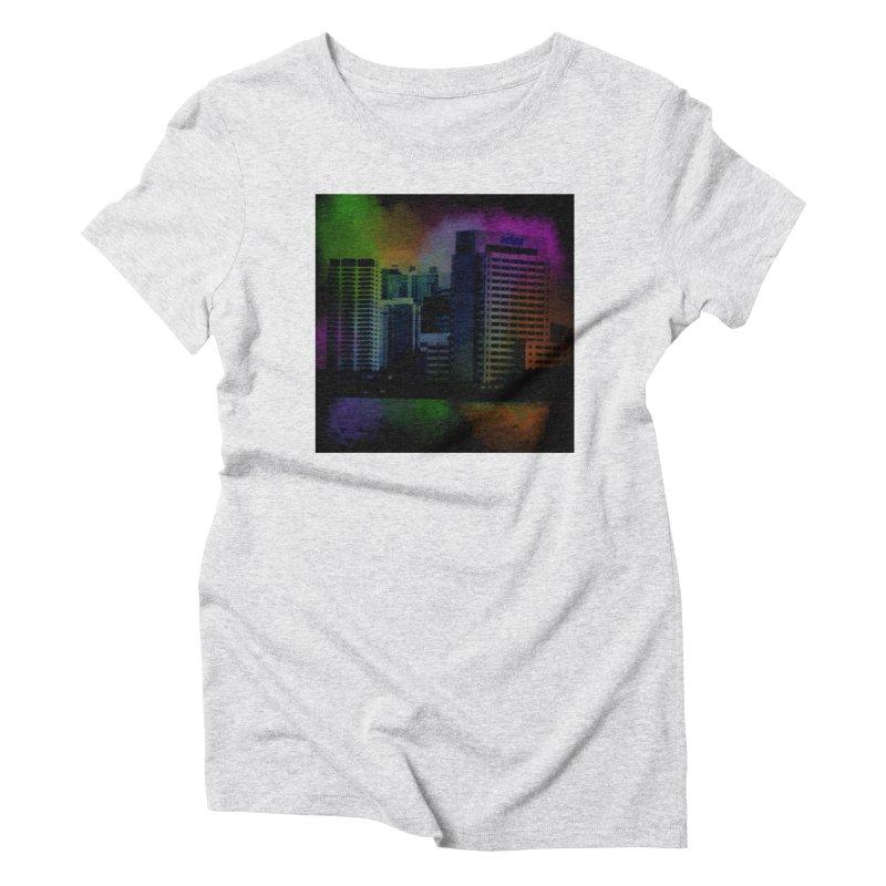 Dark City 4981 Women's Triblend T-Shirt by Korok Studios Artist Shop