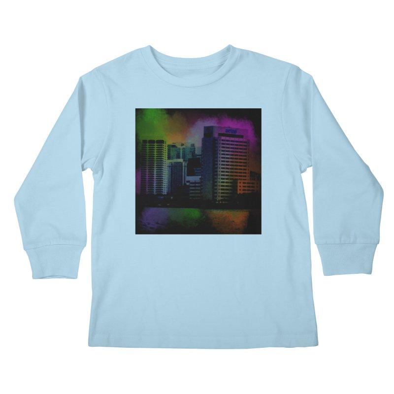 Dark City 4981 Kids Longsleeve T-Shirt by Korok Studios Artist Shop