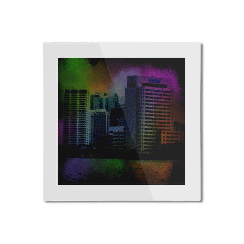 Dark City 4981 Home Mounted Aluminum Print by Korok Studios Artist Shop