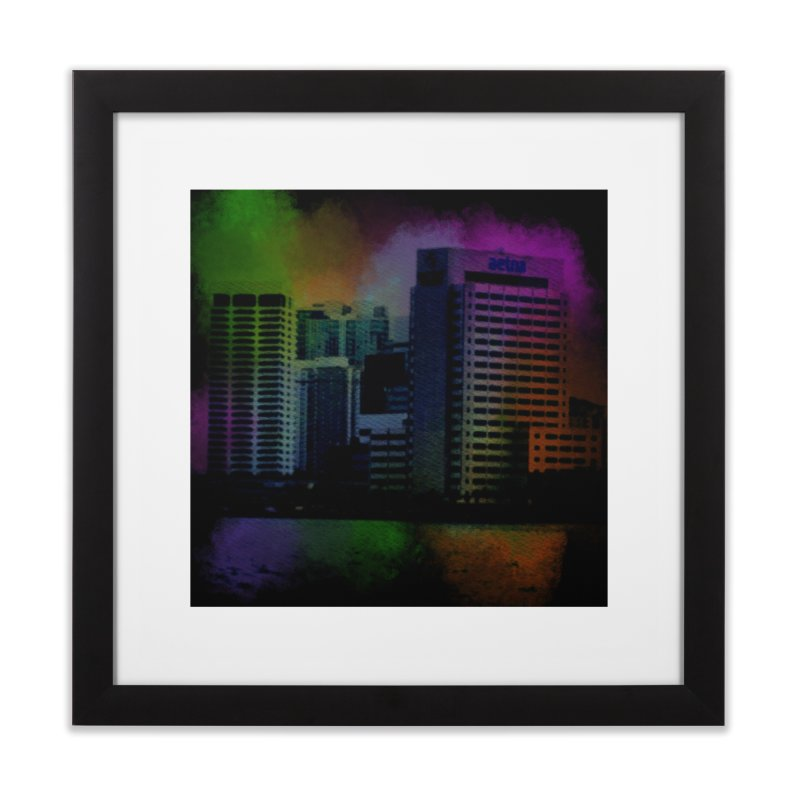 Dark City 4981 Home Framed Fine Art Print by Korok Studios Artist Shop