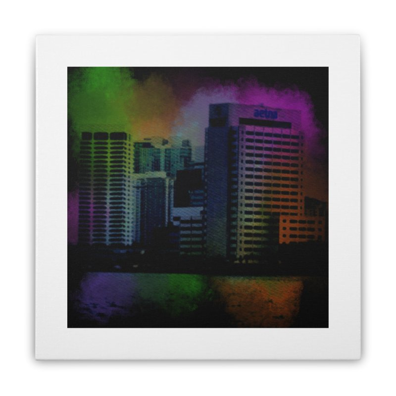 Dark City 4981 Home Stretched Canvas by Korok Studios Artist Shop
