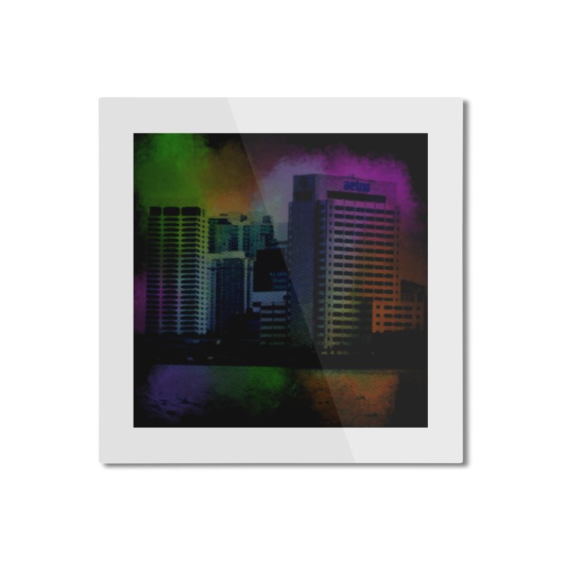 Dark City 4981 Home Mounted Aluminum Print by Korok Studios Artist Shop