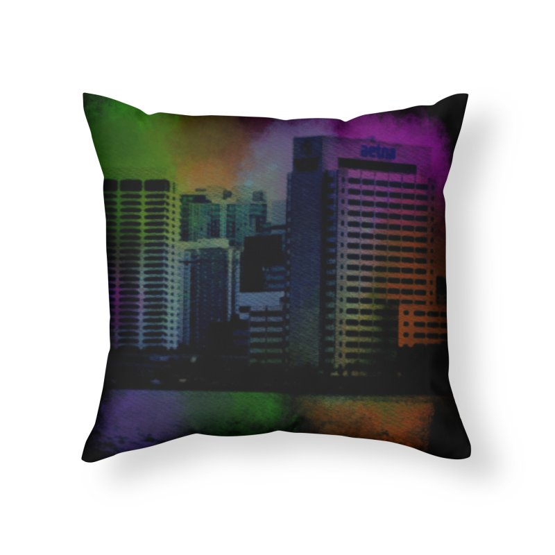 Dark City 4981 Home Throw Pillow by Korok Studios Artist Shop
