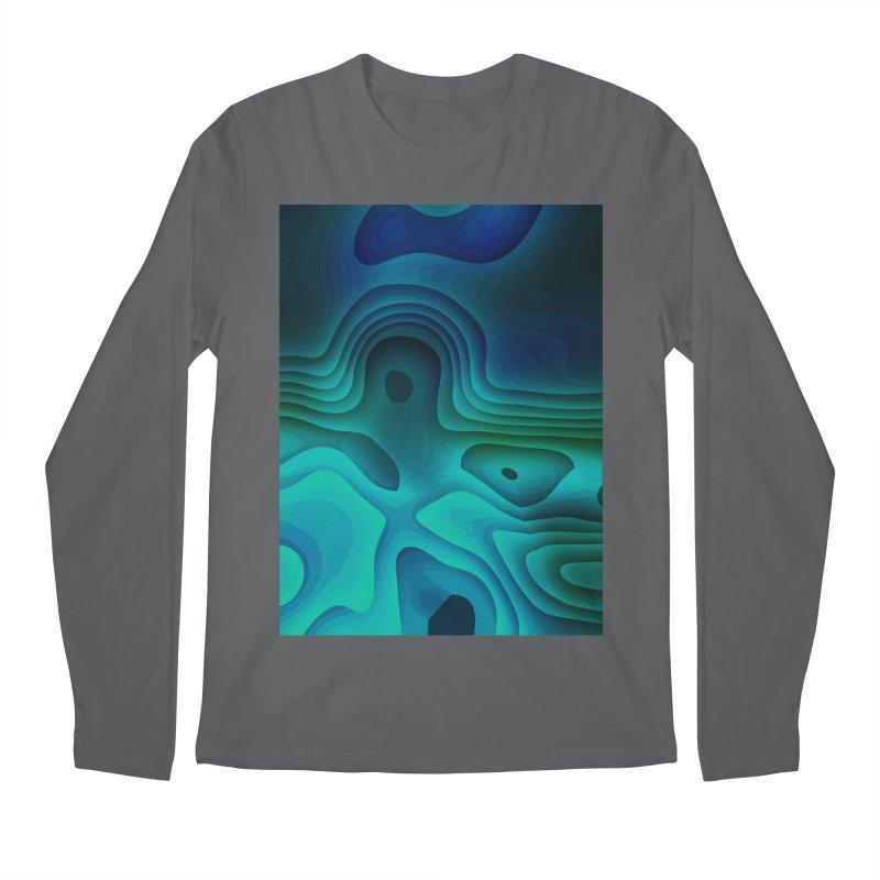 Modern Cave Paintings Men's Regular Longsleeve T-Shirt by Korok Studios Artist Shop