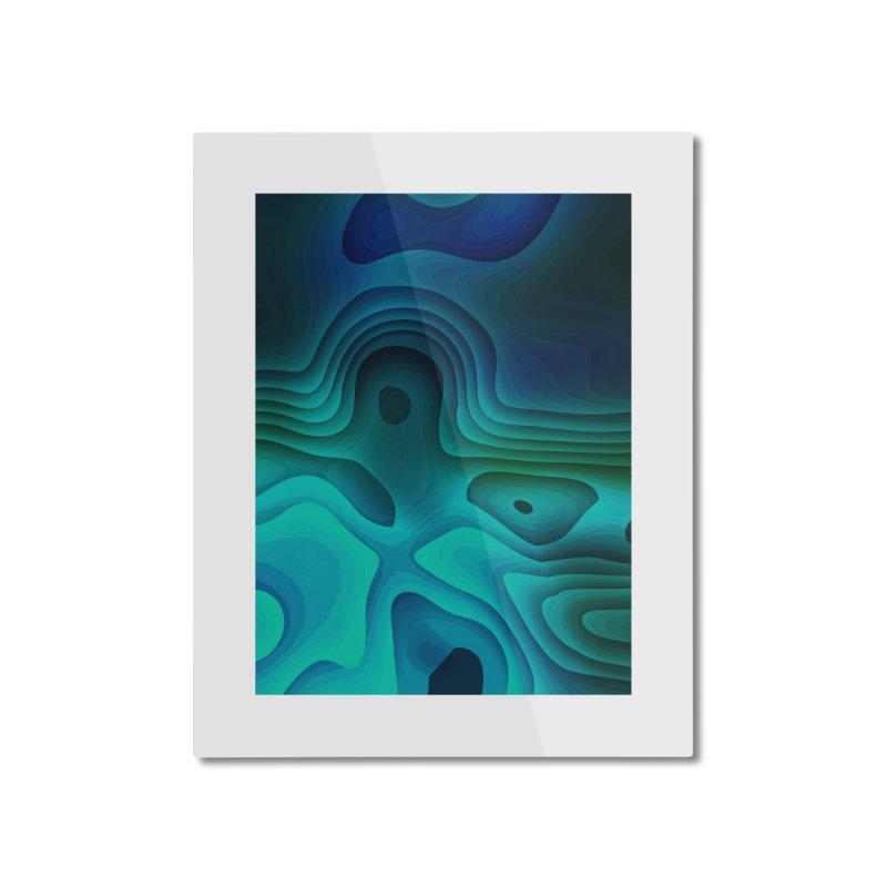 Modern Cave Paintings Home Mounted Aluminum Print by Korok Studios Artist Shop