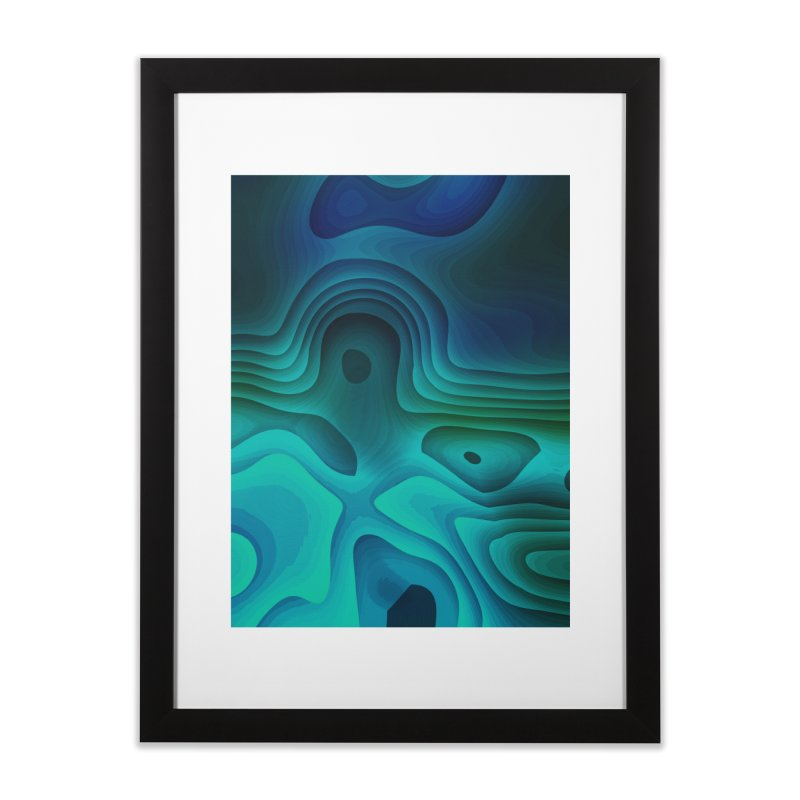 Modern Cave Paintings Home Framed Fine Art Print by Korok Studios Artist Shop