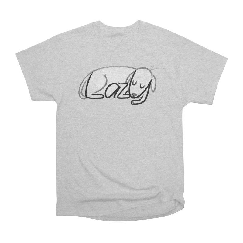 LAZY  Men's Heavyweight T-Shirt by dzeri29's Artist Shop