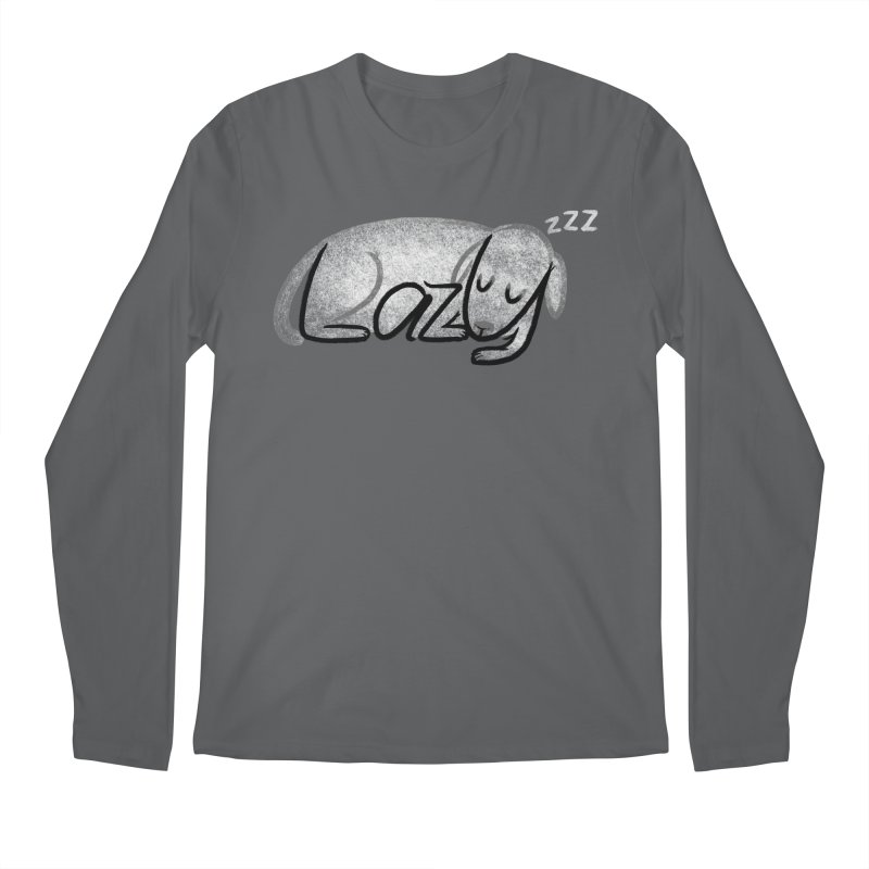 LAZY  Men's Regular Longsleeve T-Shirt by dzeri29's Artist Shop