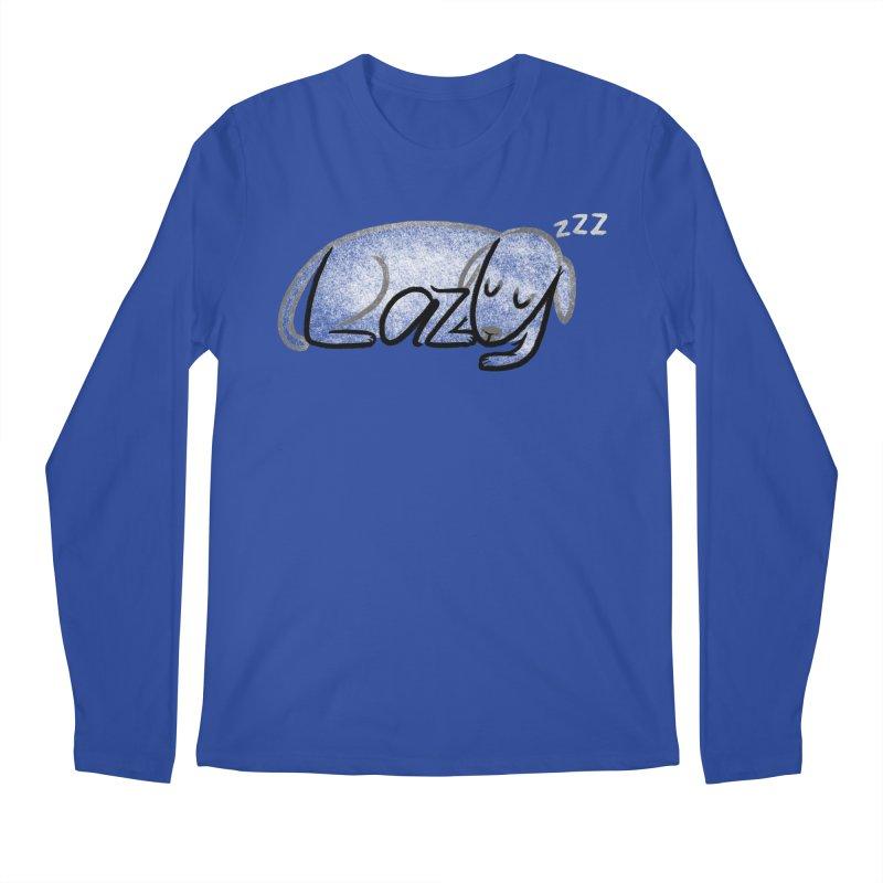 LAZY  Men's Regular Longsleeve T-Shirt by dzeri29's Artist Shop