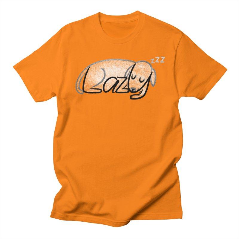 LAZY  Men's Regular T-Shirt by dzeri29's Artist Shop