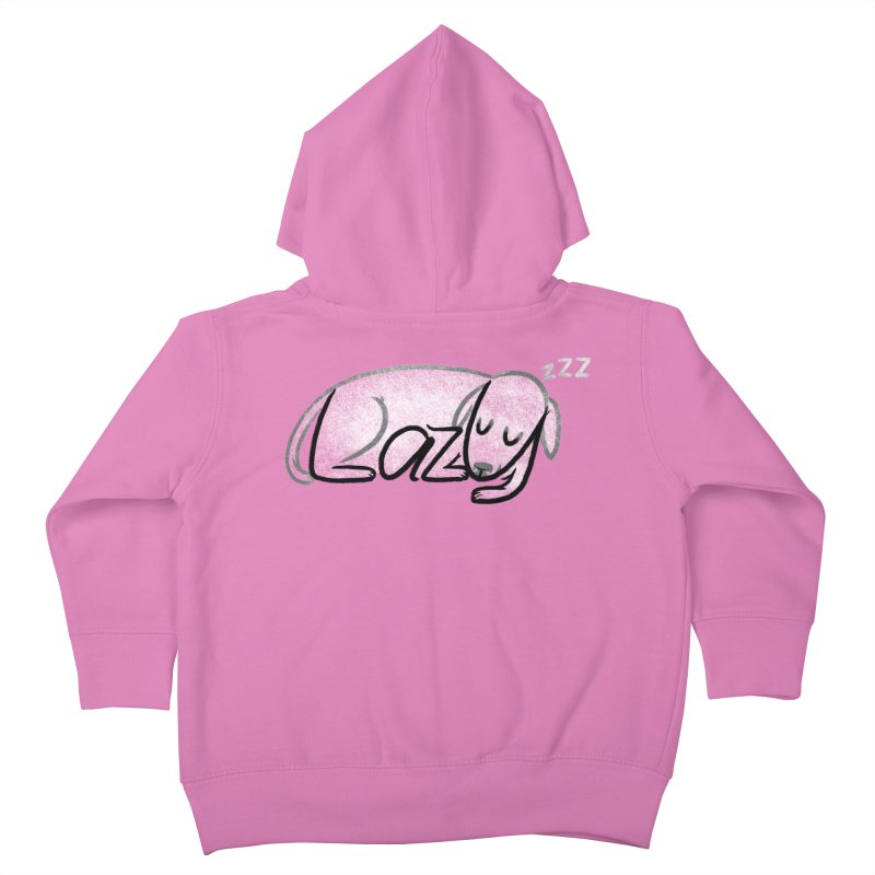LAZY  Kids Toddler Zip-Up Hoody by dzeri29's Artist Shop