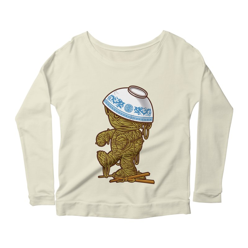 'RAMEN'SES RETURN 2 Women's Longsleeve Scoopneck  by dzeri29's Artist Shop