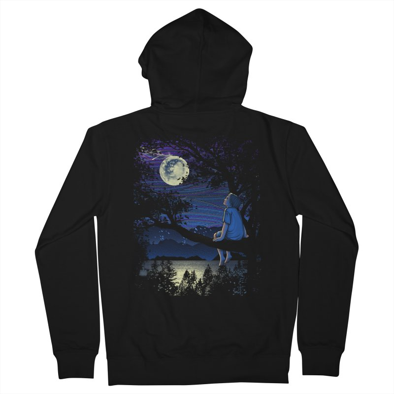 WISHFUL THINKING Men's Zip-Up Hoody by dzeri29's Artist Shop