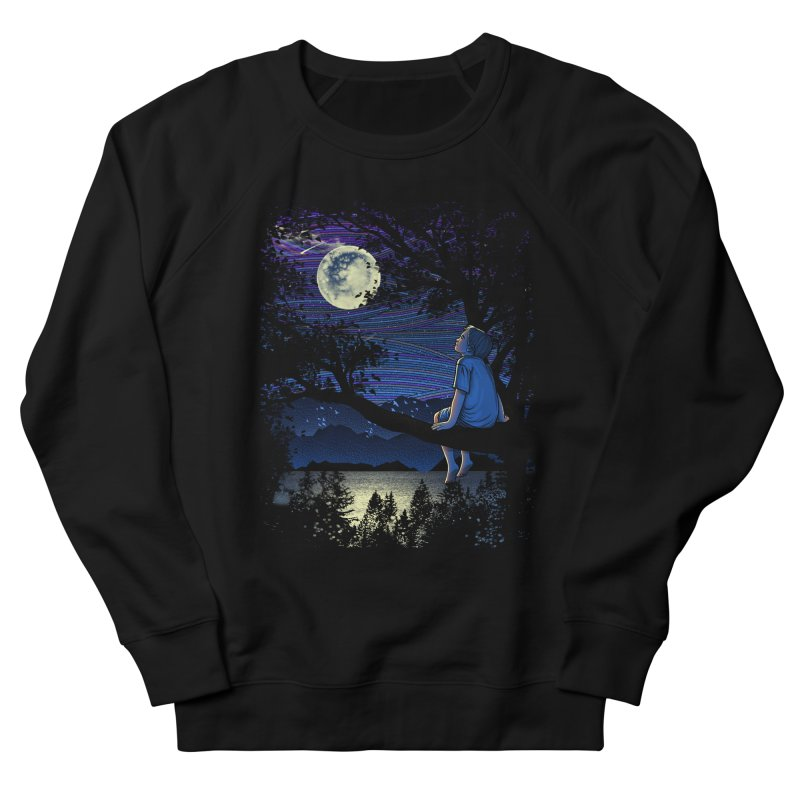 WISHFUL THINKING Men's French Terry Sweatshirt by dzeri29's Artist Shop