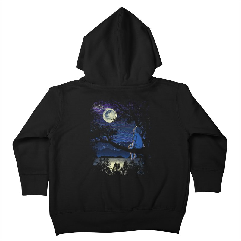 WISHFUL THINKING Kids Toddler Zip-Up Hoody by dzeri29's Artist Shop