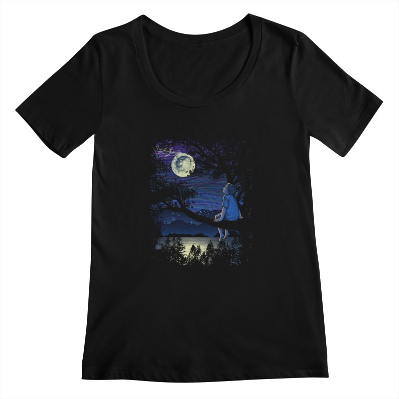 WISHFUL THINKING Women's Scoopneck by dzeri29's Artist Shop