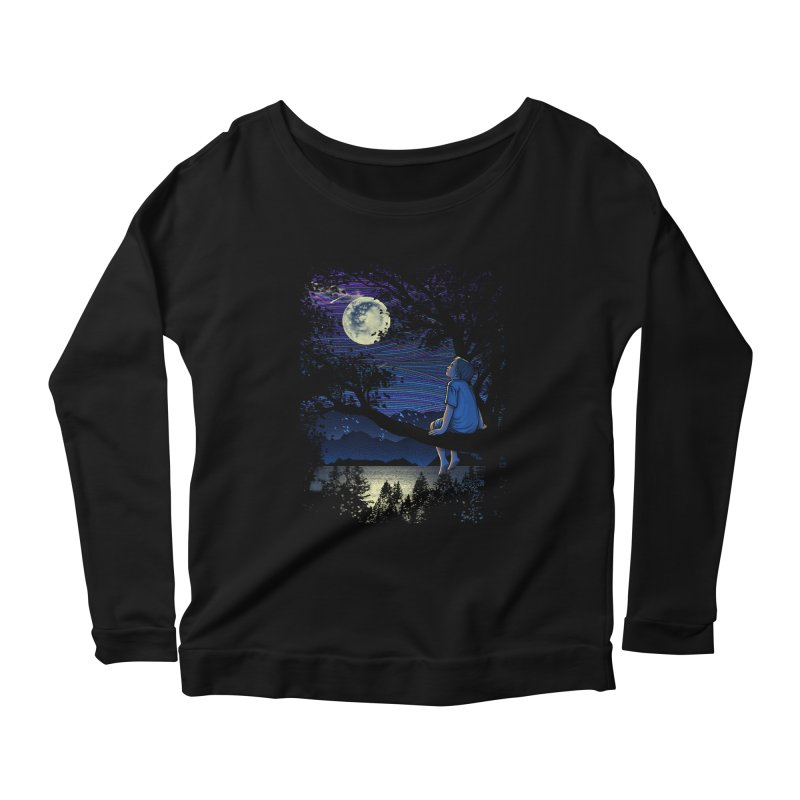WISHFUL THINKING Women's Longsleeve Scoopneck  by dzeri29's Artist Shop