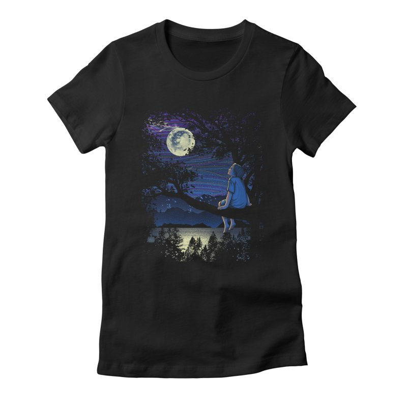 WISHFUL THINKING Women's Fitted T-Shirt by dzeri29's Artist Shop