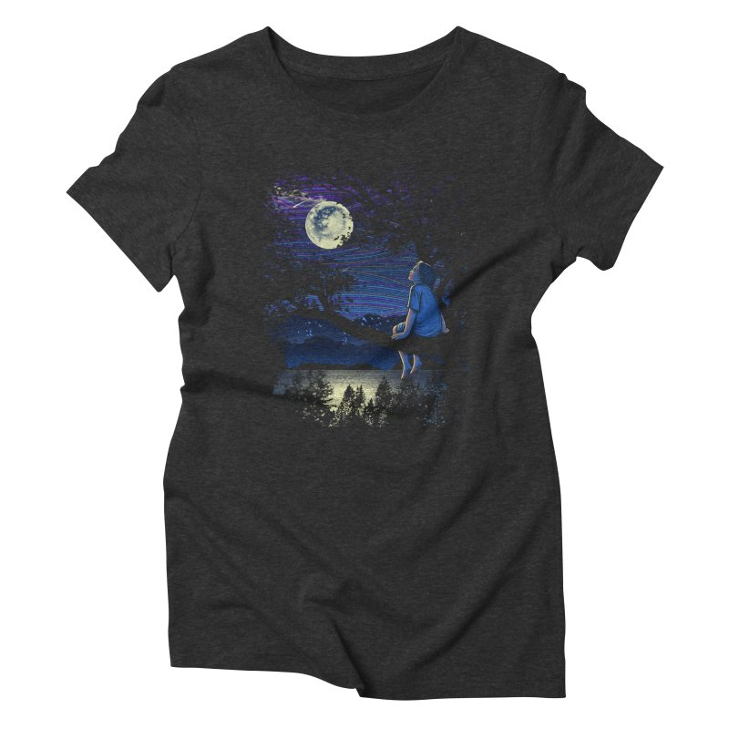 WISHFUL THINKING Women's Triblend T-shirt by dzeri29's Artist Shop