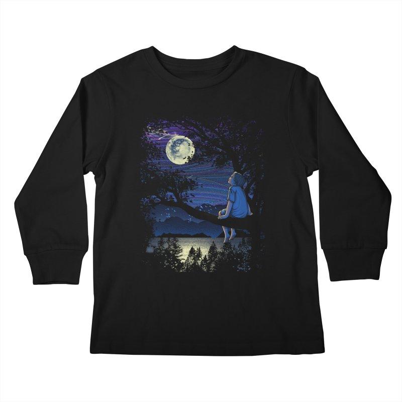 WISHFUL THINKING Kids Longsleeve T-Shirt by dzeri29's Artist Shop
